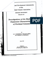 Investigations of the Hydration Expansion Characteristics of Portland Cements