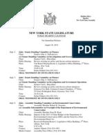 August 30, 2013 - Public Hearing Calendar