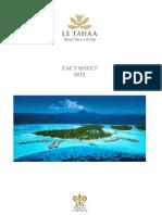 Le Tahaa Fact Sheet 2012