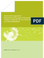 Government Approved Recylced Papers