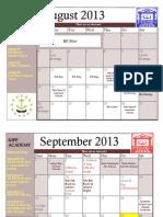 KIPP Academy MS 2013-14 Calendar