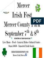 2013 Mercer Irish Fest Flyer