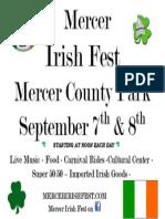 2013 Mercer Irish Fest Flyer
