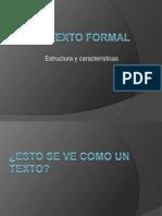 2a El Texto Formal