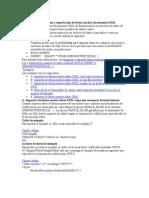 Ejemplos de importación y exportación de forma masiva documentos XML