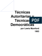 Mumford,L.-1963-Técnicas Autoritarias y Técnicas Democráticas