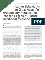 Lectura 8 - Medicina Tradicional, Origenes (Huffman 2001)