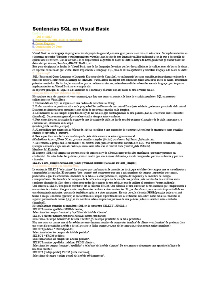 Perfect Visual Basic Resumen Festooning - Professional Resume ...