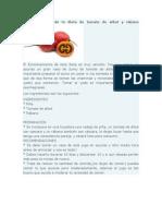 Funcionamiento de la dieta de tomate de árbol y rábano