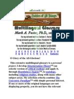 Multilingual Glossary