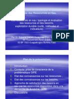 Evaluation Et Gestion Des Ressources en Eau