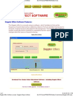 Doppler Effect Software in Sound - Dopplers Physics Software