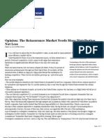 Opinion the Reinsurance Market Needs