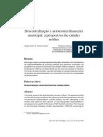 Autonomia Financeira Municipios e Perspectiva Da Cidade Media