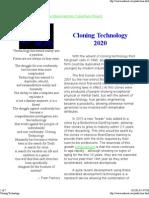 CyberPunk Cloning Technology