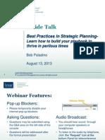IMA IT Webinar from Aug 13 2013