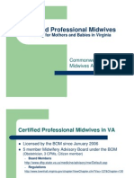 VA Dept of Health Protocols for Midwives
