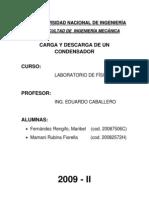 LABORATORIO N�6 CARGA Y DESCARGA DE UN CONDENSADOR.doc