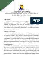 EDITAL PPGDR-Turma 2014