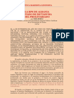 Xholi - La RPS de Albania - Estado de Dictadura Del Proletariado (1984)