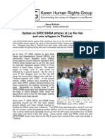 Update on SPDC/DKBA attacks at Ler Per Her  and new refugees in Thailand