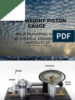 DEAD WEIGHT PISTON GAGE