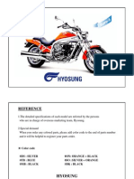 Hyosung Aquila 650 FI Parts List