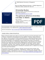 Politics of Affective Citizenship