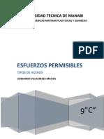 FACTOR DE SEGURIDAD Y ESFEURZO DE DISEÑO PERMISIBLE