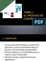 Tema 7 El Proceso de Control