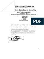 Opensource Consulting Howto (Spring 2000)