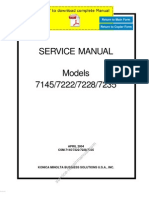 KONICAMINOLTA 7145 7222 7228 7235 Service Manual Pages