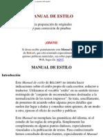 Manual de Estilo de Belcart
