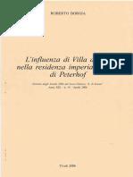 Roberto Borgia, L'Influenza Di Villa d'Este Nella Residenza Imperiale Russa Di Peterhof, Tivoli, 2006
