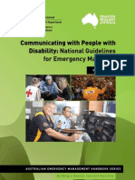 Communicating With People With Disability National Guidelines for Emergency Managers