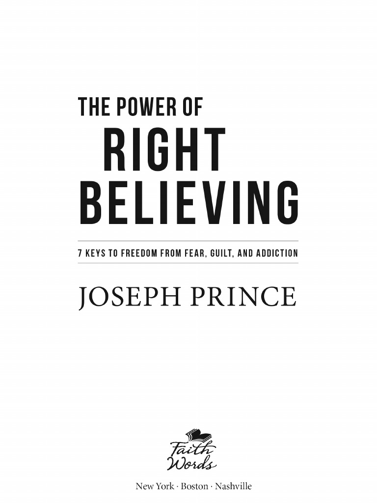 The Power Of Right Believing Pdf