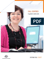 Call Centres -  A Guide to Safe Work