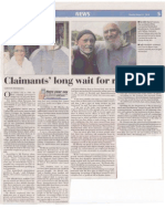 Claimants' long wait for restitiution