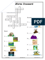 Landforms Crossword