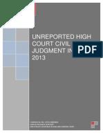 Civil Judgment Index Namibia 2013