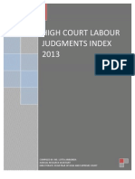Labour Judgment Index Namibia 2013