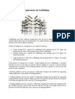 Loading Capicity Requirements for Scaffoldings