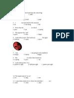 Evaluation Test Cls 4