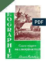Géographie François-Villin CM1-CM2 1961