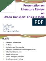 Urban Transport Crisis in India_literature review