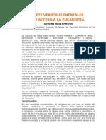 ALEIXANDRE DOLORES 7 verbos elementales de acceso a la Eucaristía