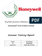 Summer Training Report