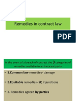 Remedies in Contract Law