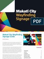 Makati City Wayfinding Signage Guide