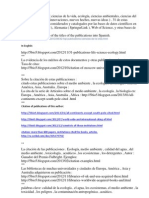 32 Top Publications. Spanish.  ecología, ciencias ambientales, ciencias del agua, http://ru.scribd.com/doc/164441763/32-Top-Publications-Spanish